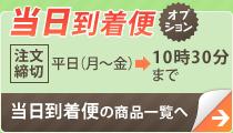 当日到着便:【注文締切】平日(月〜金)→16時まで、土・日・祝日→14時まで:当日到着便の商品一覧へ